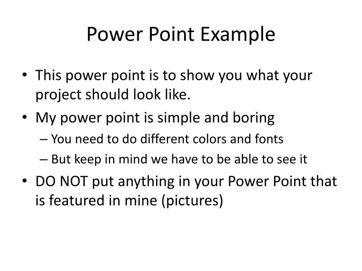 power point example n.