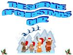 THE SCIENCE  OF CHRISTMAS  QUIZ