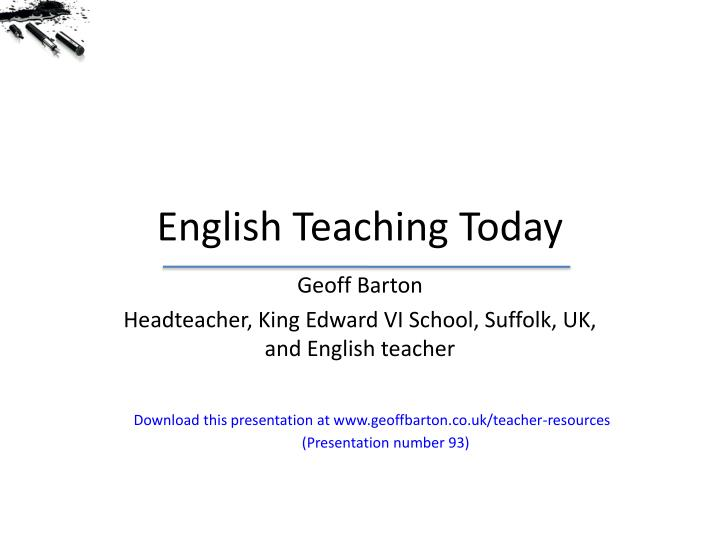 english teaching today n.
