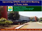 Upcoming SPARC-SSG-2010 Meeting  in Pune, India