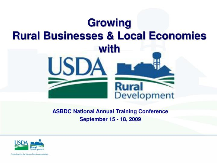 growing rural businesses local economies with n.