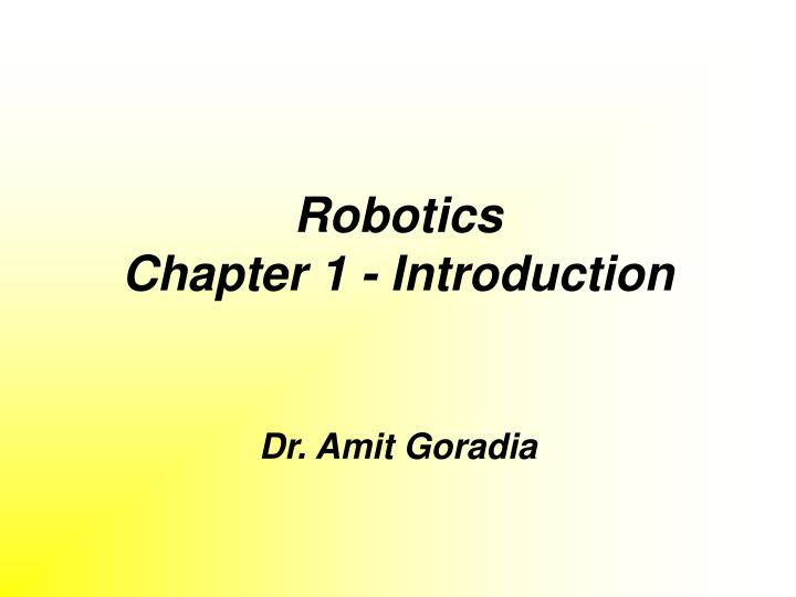 robotics chapter 1 introduction n.
