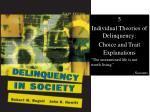 5 Individual Theories of Delinquency: Choice and Trait Explanations