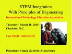 STEM Integration With Principles of Engineering
