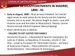 CHAPTER 18:DISAPPOINTMENTS IN MADRID, 1890 - 91