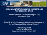 REGIONAL INTEGRATION IN THE AMERICAS AND THE ECONOMIC CRISIS