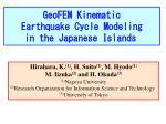GeoFEM Kinematic Earthquake Cycle Modeling in the Japanese Islands