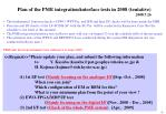 Plan of the PME integration/interface tests in 2008 (tentative) 2008.7.26