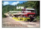 SFM : SUSTAINABLE FOREST MANAGEMENT