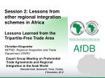 Session 2: Lessons from other regional integration schemes in Africa