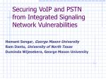 Securing VoIP and PSTN  from Integrated Signaling Network Vulnerabilities