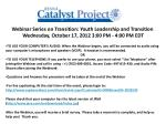 Transition: Youth Leadership and Assistive Technology
