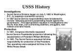 USSS History