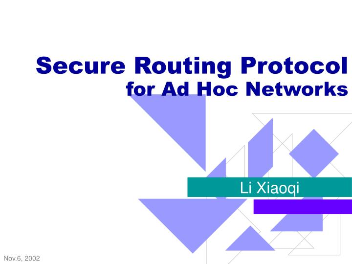 secure routing protocol for ad hoc networks n.