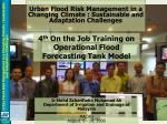 Urban Flood Risk Management in a Changing Climate : Sustainable and Adaptation Challenges