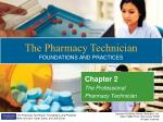 Chapter 2 The Professional Pharmacy Technician