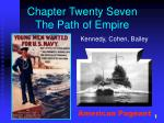 Chapter Twenty Seven The Path of Empire