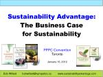 Sustainability Advantage: The Busine $$  Ca $ e  for Sustainability