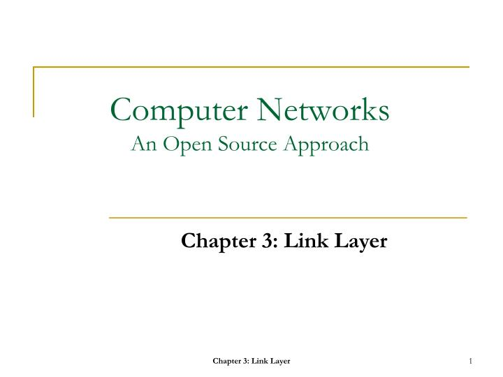computer networks an open source approach n.