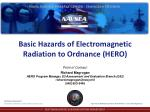 Basic Hazards of Electromagnetic Radiation to Ordnance (HERO)