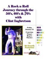 A Rock n Roll Journey through the 50's, 60's & 70's with Clint Ingbretson