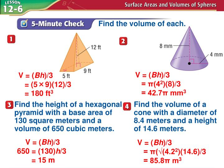 Ppt Find The Volume Of Each Powerpoint Presentation Id4805921