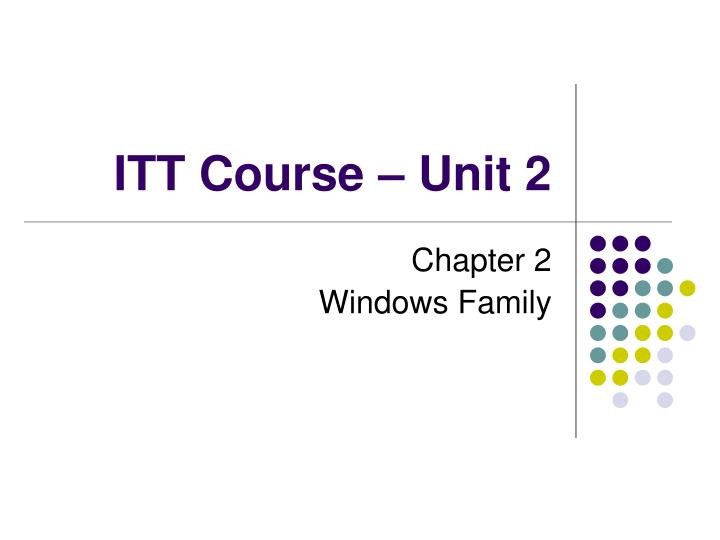 itt course unit 2 n.