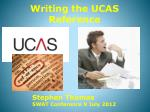 Writing the UCAS Reference