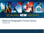 National Geographic Virtual Library Cengage Gale
