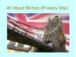 All About Britain (Primary One)