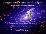 Antimatter and Dark Matter Searches in Space: the PAMELA Space Mission