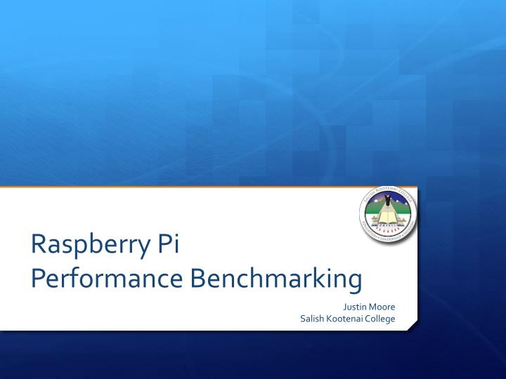 raspberry pi performance benchmarking n.