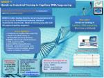 DSRGT ™ Hands on Industrial Training in Capillary DNA Sequencing
