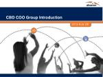 CBD COO Group Introduction