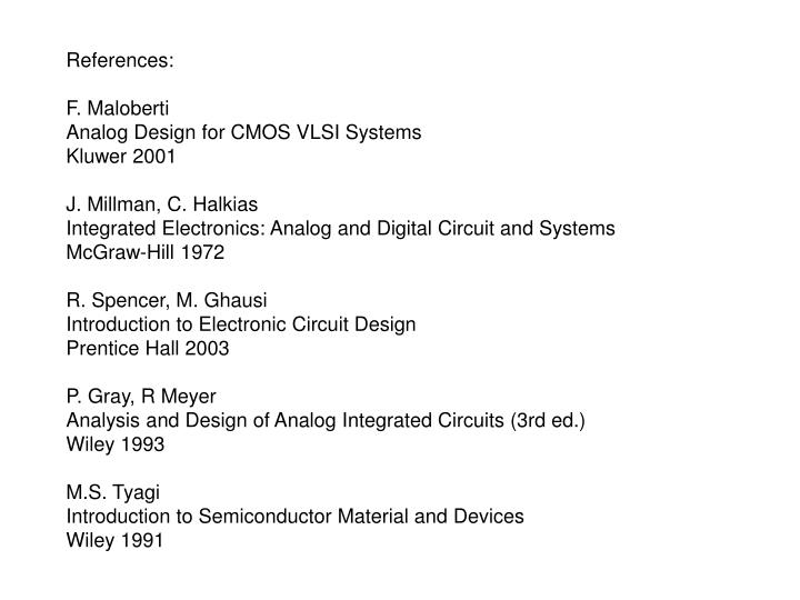 ppt references f maloberti analog design for cmos vlsi systems