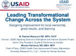Leading Transformational Change Across the System