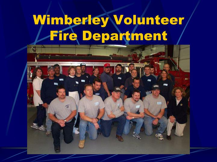 wimberley volunteer fire department n.