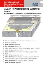 ALSAN RS Waterproofing System for Joints with ALSAN RS 230 Resin for horizontal expansion joints