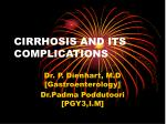 CIRRHOSIS AND ITS COMPLICATIONS