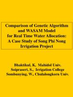Comparison of Genetic Algorithm and WASAM Model for Real Time Water Allocation: