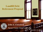 Landfill Debt Retirement Proposal