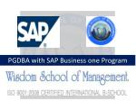 PGDBA with SAP Business one Program