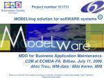 MODELling solution for softWARE systems