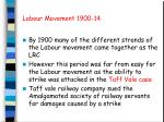 Labour Movement 1900-14