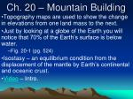 Ch. 20 – Mountain Building