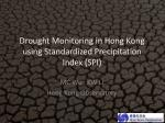 Drought Monitoring in Hong Kong using Standardized Precipitation Index (SPI)