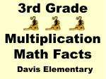 3rd Grade Multiplication Math Facts