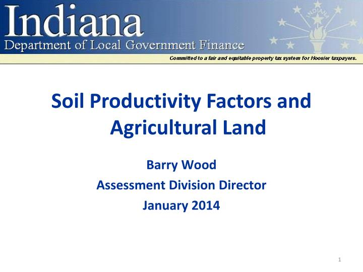 soil productivity factors and agricultural land n.