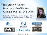 Building a Great Business Profile for Google Places and More