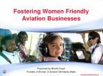 Fostering Women Friendly Aviation Businesses